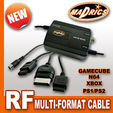 Madrics MULTI FORMATO RF TV VIA CAVO ANTENNA ADAPTER lead per GameCube N64 PS2 XBOX
