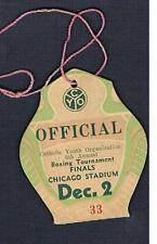 RARE 1936 Chicago 6th CYO Golden Gloves Boxing Tournment Finals ticket pass