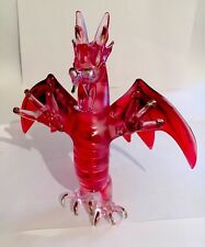 RED DRAGON Figurine Glass Crystal Welsh