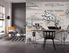 Géant papier papier peint 368x254cm Star Wars vaisseaux spatiaux ados chambre