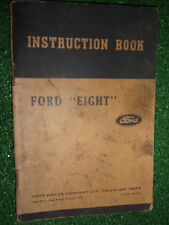 GENUINE 1937 FORD EIGHT '8' INSTRUCTION BOOK OWNERS MANUAL USER HANDBOOK