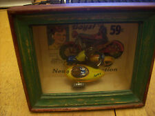 Shadows OF Yesterday Toys in the Cupboard Shadow Box tricky motorcycle with cart