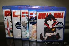 Kill la Kill Vol. 1,2,3,4 & 5 Ep. 1-24 Complete Anime Blu-ray Bundle R1