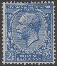 GB KGV 2.1/2d Blue SG422 Two Pence Halfpenny George V 1924 Mint Hinged Stamp
