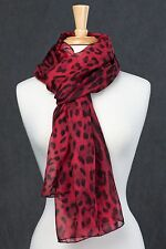 100% Silk - Women's Animal/Leopard/Cheetah/Zebra Print Scarf /Shawl/Wrap