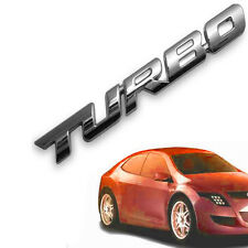 1Pc 3D TURBO Word Letter Sport Sticker Car Metal Chrome Logo Emblem Decal Silver