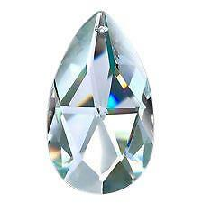 5 Asfour Full Lead Crystal Chandelier Teardrops 38mm Faceted Pendant Feng Shui