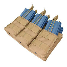 CONDOR MOLLE Modular Nylon Triple Stacker 6x5.56mm Mag Pouch ma44 COYOTE TAN
