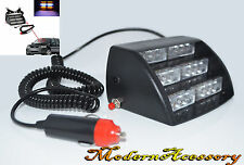 Amber/White 18 LED Strobe Police Emergency Flashing Warning Light for Car/Truck