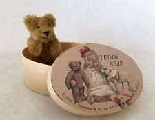 Teddy Bear in Box Collectable Shackman Label Girl Toys Plush 3 Inch
