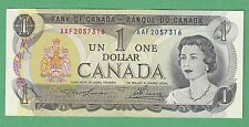 1973 Bank of Canada 1 Dollar Note - Lawson Bouey Steel - Unc - Aaf2057316