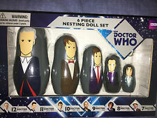 Doctor Who 7th to 12th doctors  nesting doll set