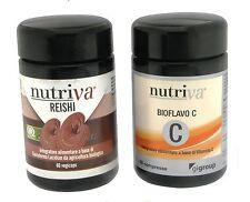 """GANODERMA LUCIDUM - REISHI + VITAMINA """"C""""  -  NUTRIVA - coltivazione BIO - PURO"""