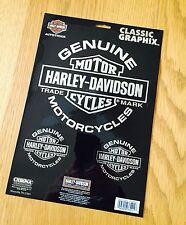 HARLEY DAVIDSON HD GENUINE PLASTIC DECALS STICKERS LABELS AUTHENTIC SET OF 3