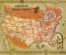 TAPIS DE SOURIS USA INDIENS AMERIQUE CARTE DES TRIBUS INDIENNES  UNITED STATES