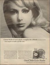 1966 Vintage ad for Clairol Make-up For Blondes`Sexy Model Retro  (083016)