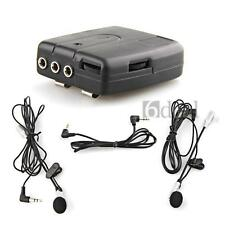 Motorbike Motorcycle Helmet 2-way Intercom Headset Communication System+Earphone