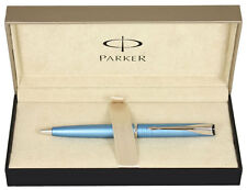 Parker Latitude Ballpoint Pen Blue Chrome Trim NEW