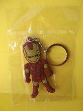 "Comic Iron Man Double Sided PVC Key Chain 3""in Tall"