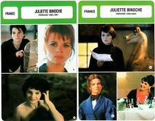 FICHE CINEMA x2 : JULIETTE BINOCHE de 1983 à 2004 - France (Biographie/Filmo)