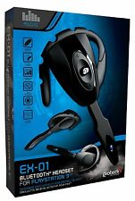 Playstation 3 PS3 Gioteck EX-01 Bluetooth Headset kabellos Paketversand!!! NEU