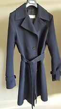 MaxMara Classic Navy Knee Length Coat - Size UK8, Good Condition