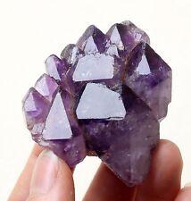 75g Natural Skeletal Amethyst QUARTZ Crystal Double point Mineral Specimen