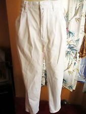 sz 11/12 Vtg 80s 90s Esprit WHITE high waist PREPPY jeans Sailing pants 28x29