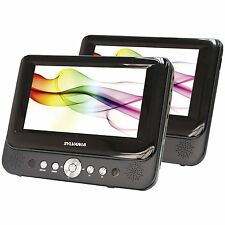 Sylvania SDVD8737 7-Inch Dual Screen Portable DVD Player w/ Car Headrest Straps