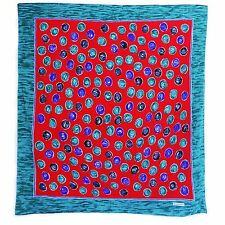 Givenchy Red Green Blue Black Circle Print Silk Scarf - EXCELLENT CONDITION