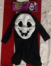 Vintage RARE Easter Unlimited Friendly Ghost Mask Fun World Scream Ghostface NEW