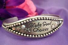 KIRKS FOLLY Bracelet Antique Silver Stars Aurora Borealis Crystals GREAT GIFT 7N