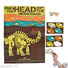 DINOSAUR Dino Dig Party Game PIN THE HEAD ON THE DINOSAUR for 12 Guests