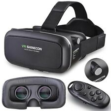 3D Virtual Reality VR Glasses Head Mount For Phone Bluetooth Remote Control