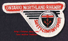 LMH PATCH Badge  ONTARIO NORTHLAND Railway  ONT Canadian Railroad  Safety Speed