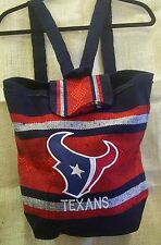 Backpack or Tote Houston Texans Handmade in Mexico Red and Black Heavy Polyester