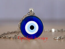 Silver Evil eye protection Fashion Pendant Necklace