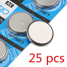 25 PCS Button Cell Coin CR2032 3V Li-ion Battery for Scales Calculator Remote RF