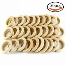 30pcs Wood Rings Circle Unfinished Wood for DIY Projects Pendant Connectors