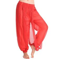Belly Dance Tribal Shinny Sequin Balloon Bloomers Trousers  Halloween Pants