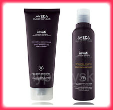 AVEDA INVATI SYSTEM EXFOLIATING SHAMPOO 6.7 OZ + THICKENING CONDITIONER 6.7 OZ.