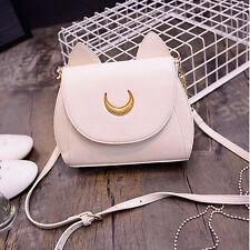 White Sailor Moon Messenger Bag Samantha Vega Luna Shoulder Women PU Leather Bag
