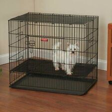 Proselect ProSelect Puppy PlayPen w/Plastic Pan S Blk - ZW064-24-17 Containment