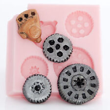Steampunk clock gear silicone mold fondant chocolate resin fimo clay mould  (803