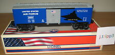 LIONEL 29997 UNITED STATES AIR FORCE USAF BOXCAR TRAIN O GAUGE AMERICA MILITARY