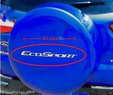 201- FES Ford EcoSport Spare Tyre Tire Cover Sticker Logo Emblem Monogram SILVER
