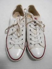 CONVERSE ALL STAR - Chuck Taylor - Low Sneakers - WHITE CANVAS - MENS SIZE