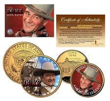 JOHN WAYNE *The Duke* 24K Gold U.S Legal Tender 2-Coin Set *Officially Licensed*