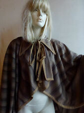 GORGEOUS VINTAGE CAPE 70'S/80'S (?) SIZE M BUT FREE SIZE WOOL BLEND