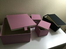 New Ikea  Pallra Box With Lid, Set Of 4, Light Pink